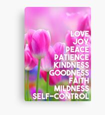 Frucht des Geistes. Galater 5:22, 23 Metalldruck