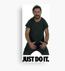 Shia LaBeouf Just Do It Canvas Print
