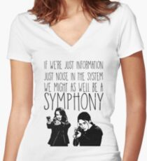 Root and Shaw - Symphony - Person of interest Women's Fitted V-Neck T-Shirt