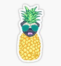pineapple pug Sticker