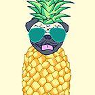 pineapple pug by FandomizedRose