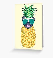 Ananas Mops Grußkarte