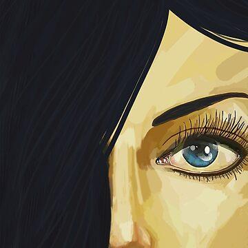 Blue Eye Black Hair by mlswig