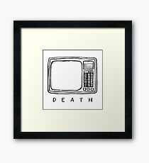 Television is a monster Framed Print