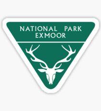 Exmoor National Park Sign, England, UK Sticker