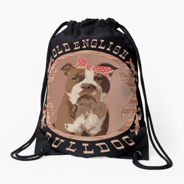 Old English Bulldog female Drawstring Bag