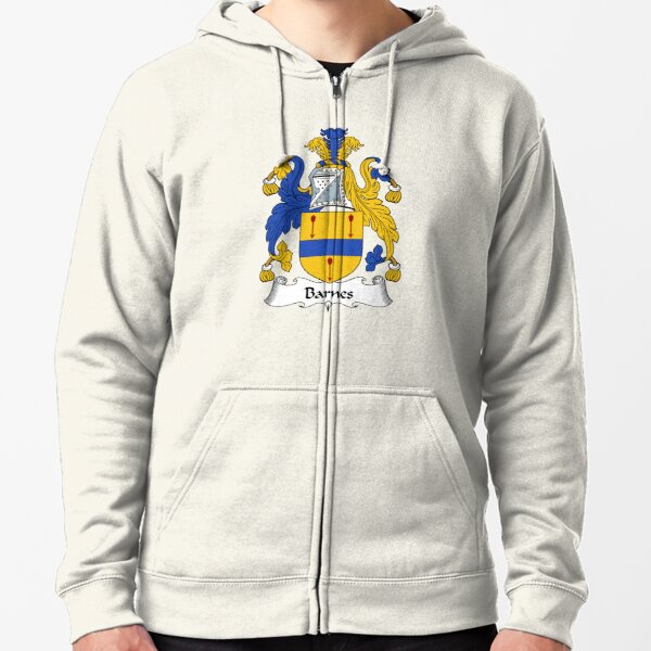 Barnes Coat of Arms / Barnes Family Crest Zipped Hoodie