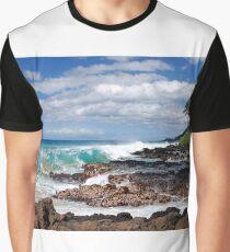 Turqouise Breakers of Makena, Hawaii Graphic T-Shirt