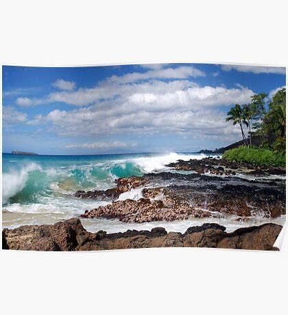Turqouise Breakers of Makena, Hawaii Poster