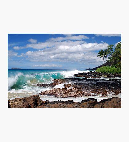 Turqouise Breakers of Makena, Hawaii Photographic Print