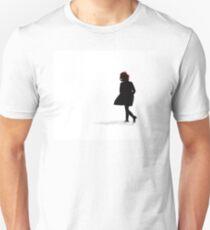 Woman Running in Snow T-Shirt
