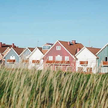 Striped Summer Houses  by hellotwiggs