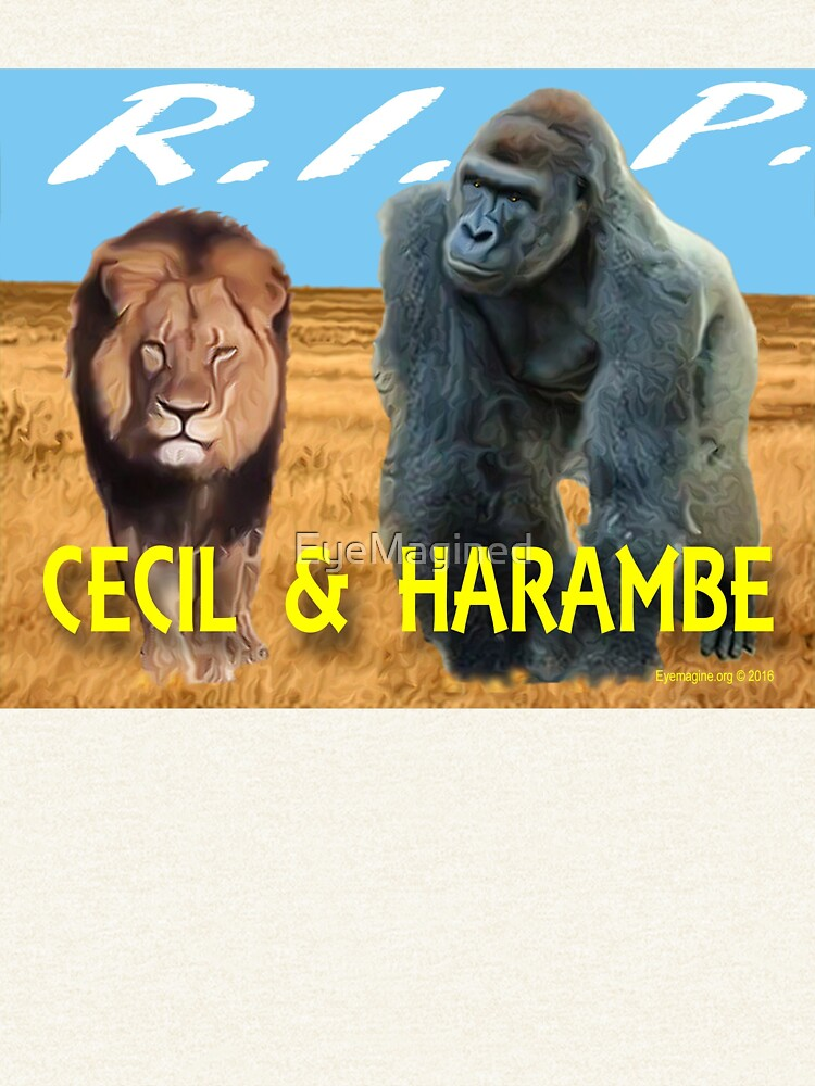 Cecil and Harambe R.I.P. by EyeMagined