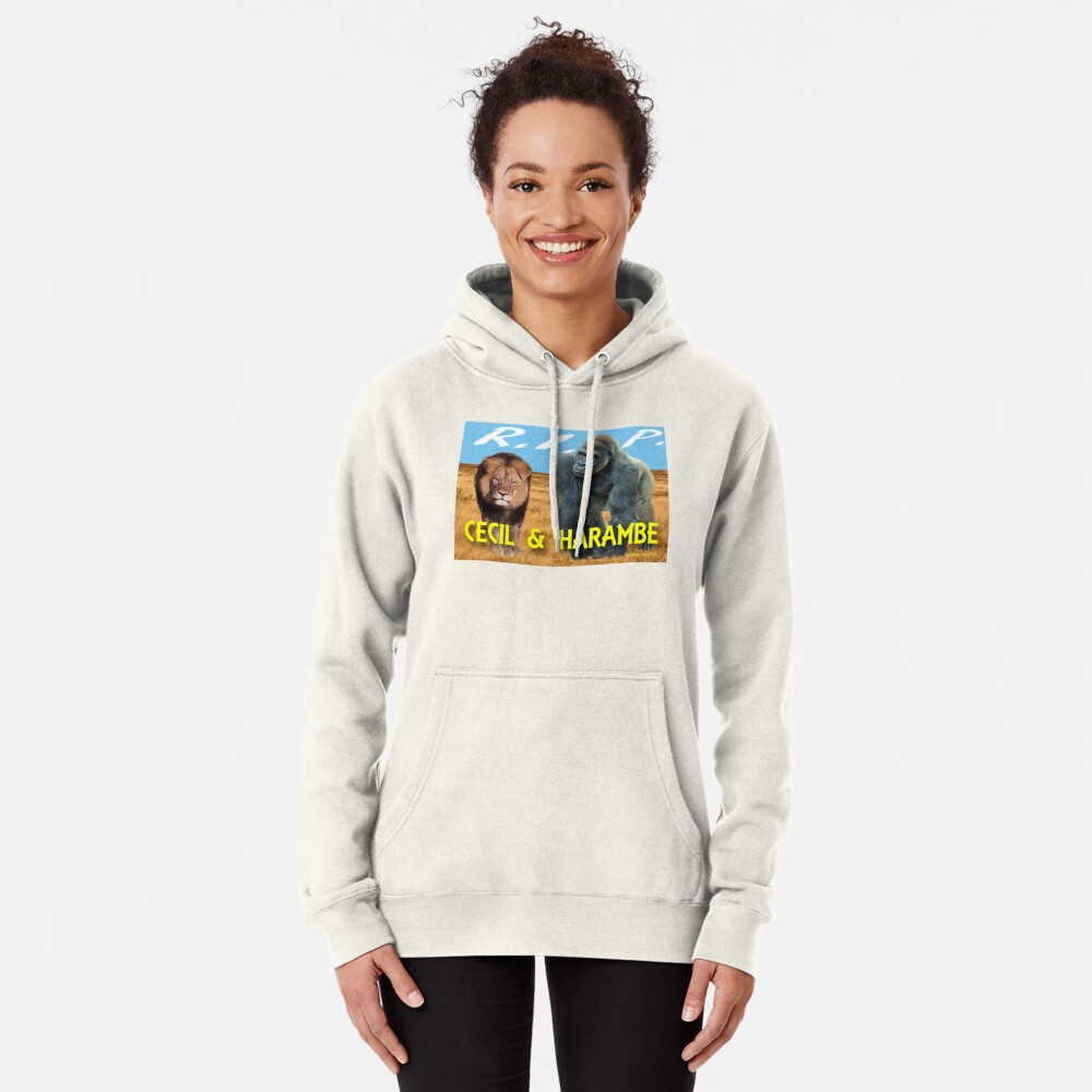 Cecil and Harambe R.I.P. Pullover Hoodie