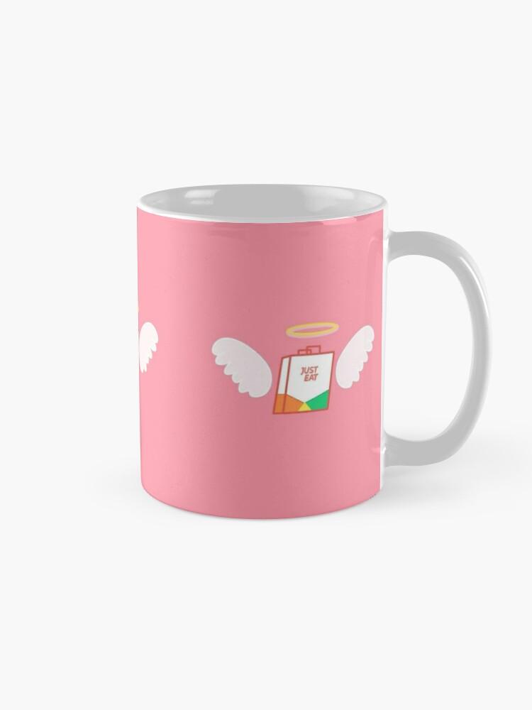 Alternate view of just eat angel Mug