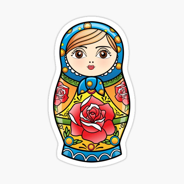 russian nesting doll Sticker