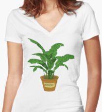 Robert PLANT Women's Fitted V-Neck T-Shirt