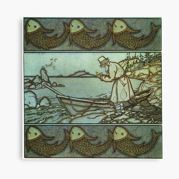The Fisherman and the golden fish - Ivan Bilibin -1900 Canvas Print