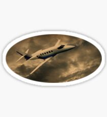 Jet Through The Clouds  Sticker