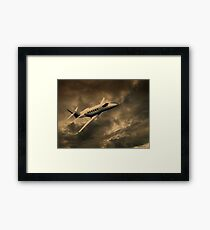 Jet Through The Clouds  Framed Print