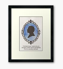 John Watson Cameo Framed Print