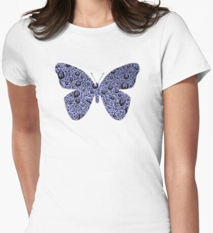 Blue Raindrops Butterfly  T-Shirt