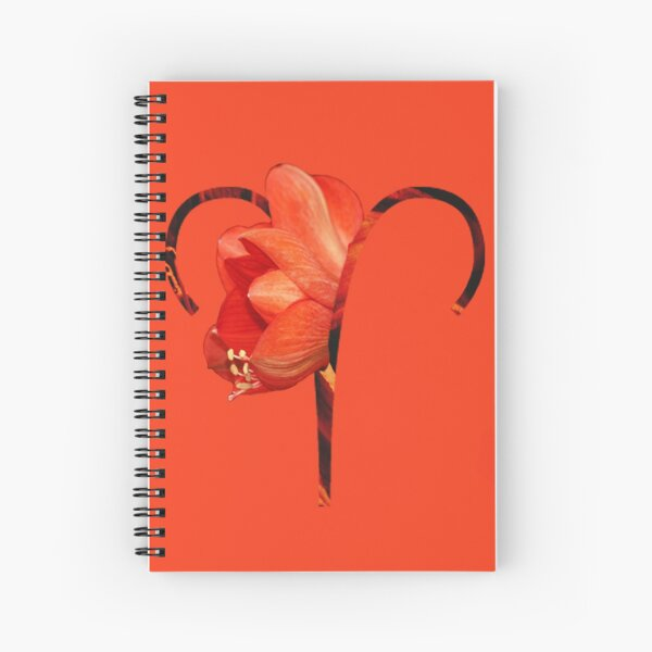 Aries Flower Spiral Notebook