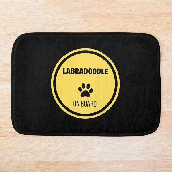 Labradoodle On Board Bath Mat