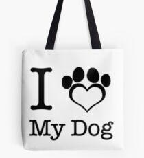 Ich liebe meinen Hund Tote Bag