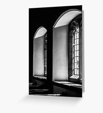 English Church Windows Greeting Card