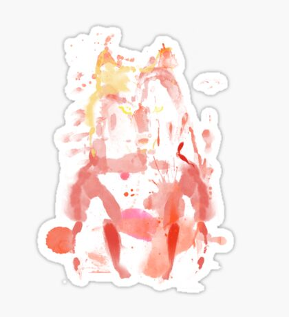 watercolor foxy 2 Sticker