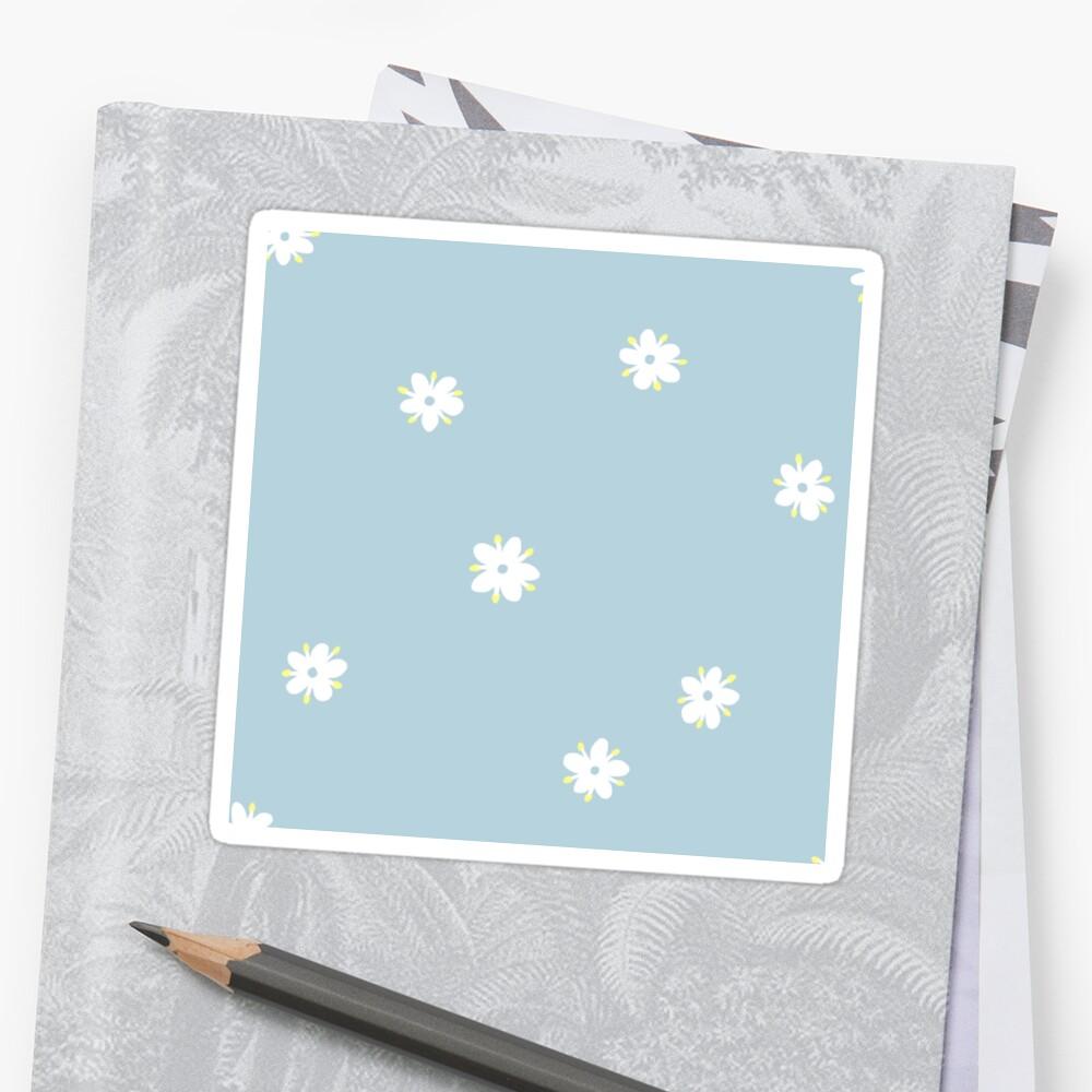 Elderflowers on baby blue, sparse Sticker