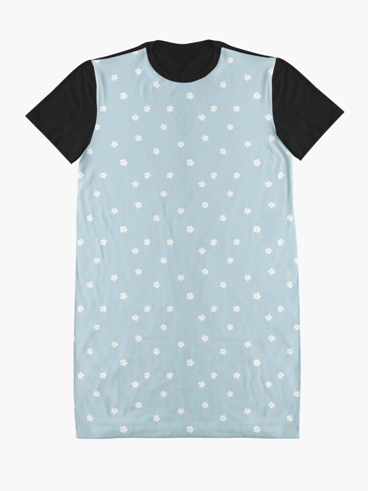 Alternate view of Elderflowers on baby blue, sparse Graphic T-Shirt Dress