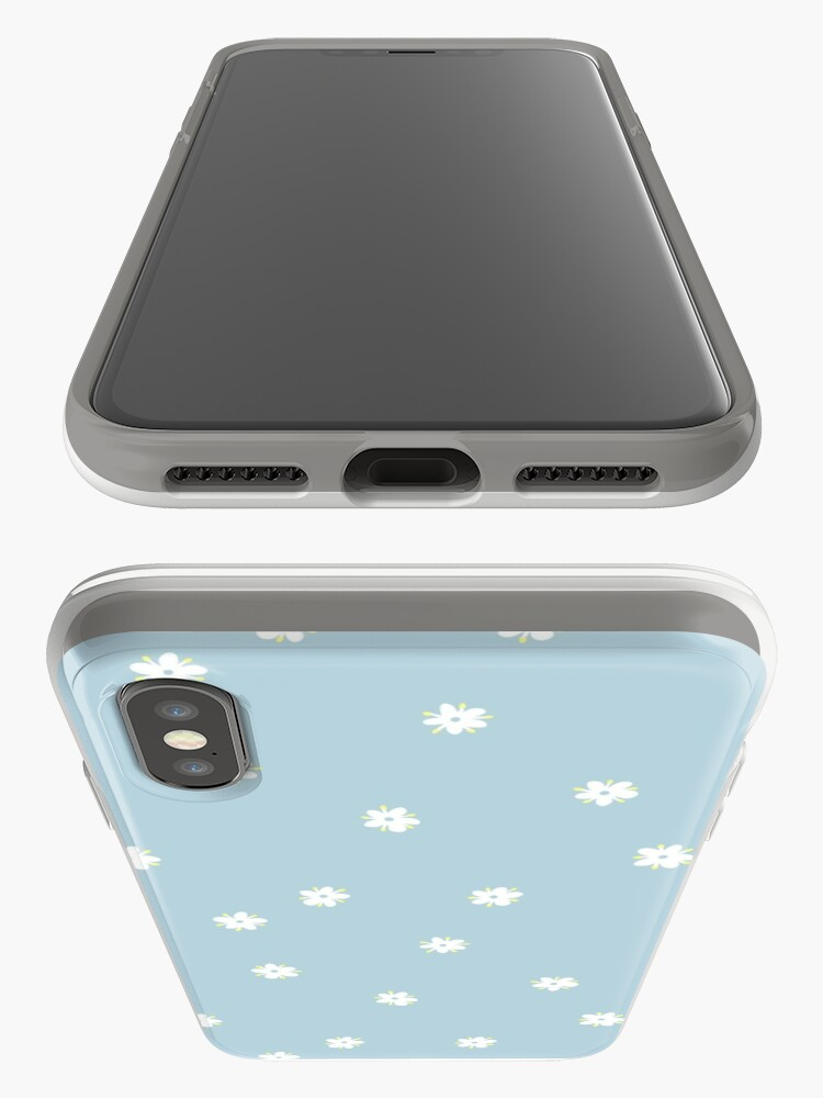 Alternate view of Elderflowers on baby blue, sparse iPhone Case & Cover
