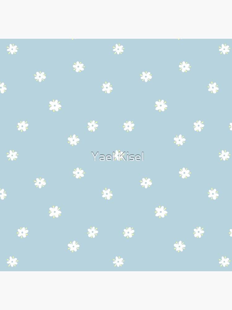 Elderflowers on baby blue, sparse by yaelkisel