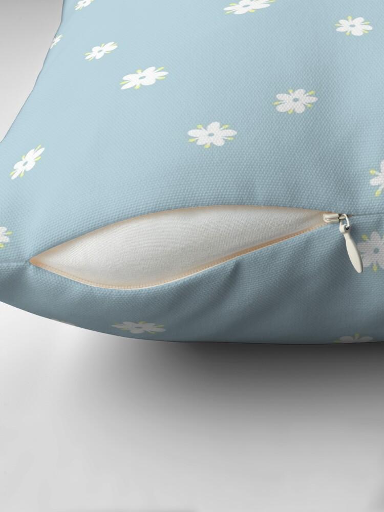 Alternate view of Elderflowers on baby blue, sparse Throw Pillow