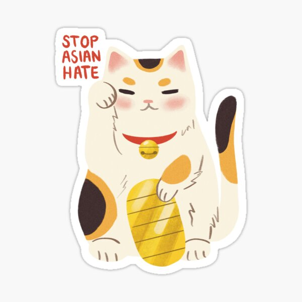 Lucky Cats For AAPI Sticker