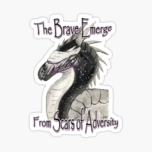Dragon - The Brave Emerge from Scars of Adversity Sticker
