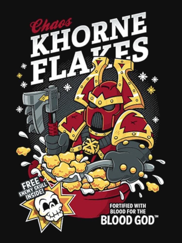 Chaos Khorne Flakes T-Shirt by MilesHills