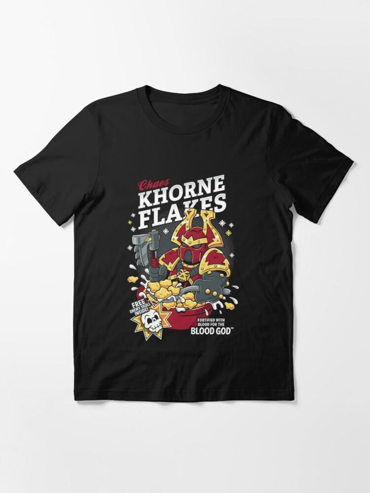 Alternate view of Chaos Khorne Flakes T-Shirt Essential T-Shirt
