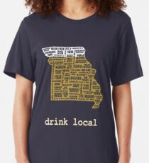Drink Local - Missouri Beer Shirt Slim Fit T-Shirt
