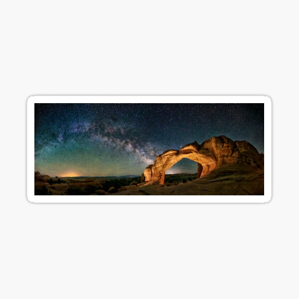 Broken Arch With The Rising Milky Way by OLena Art  Sticker