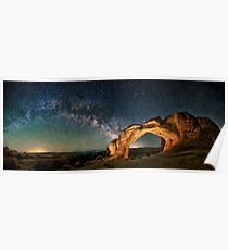 Broken Arch With The Rising Milky Way Poster