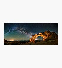Broken Arch With The Rising Milky Way Photographic Print