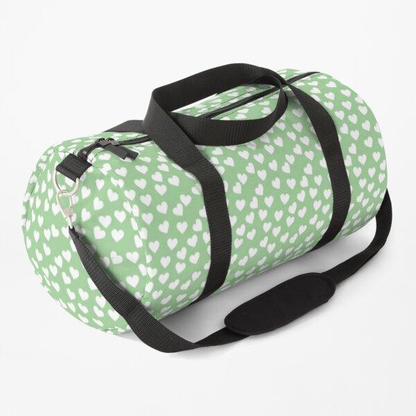 Green /& White Hearts Weekender Bag