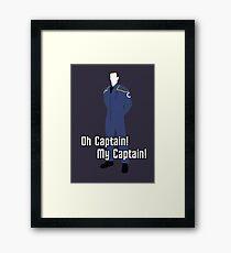 Oh Captain! My Captain! - Jonathan Archer - Star Trek Framed Print
