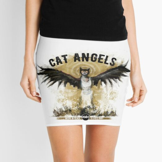 Cat Angels Mini Skirt
