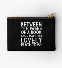 Between the Pages (white) Studio Pouch