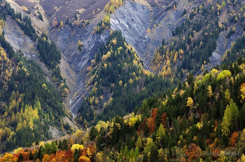 Autumn along the Alpine road by Patrick Morand