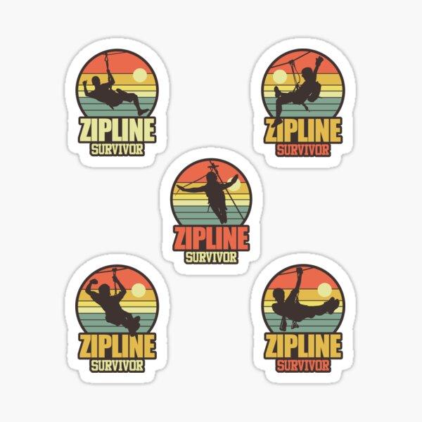 Zipline Survivor Thrill Ride 5 Pack Stickers Sticker